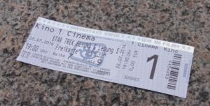 Eintrittskarte Star Trek Prometheus